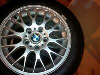 NEW BMW RIM AND TIRES!