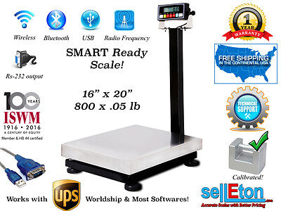 Bench Scale Smart Ready With Cap Of 800 X .05lb With Rs-232 Port Ups