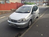 ideal for a family chevrolet tacuma 55 reg with long MOT very big boot ,px welcome not scenic