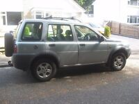 1999 LAND ROVER FREE LANDER AND CAR RECOVERY DOLLY WILL SEPERATE