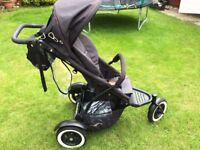 Phil and Teds Dot Pushchair - IMMACULATE with brand new unused seat unit and rain cover