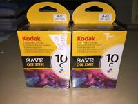 2x Kodak Colour 10C Ink Cartridges