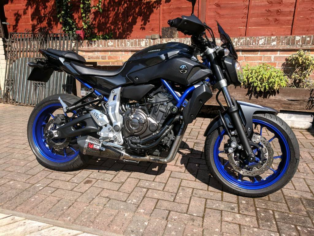 Yamaha MT07 - 689cc - Blue/Grey - Dyno Remap - Exhaust + More! - PRICE  DROP  | in Burnham-on-Sea, Somerset | Gumtree
