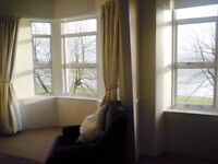 Large seaview furnished flat Lochgilphead. 2 beds, bathroom, kitchen, garage, garden £475 +utilities