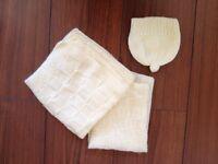  NEW 2 tiny newborn wool blankets [MrStNeots]
