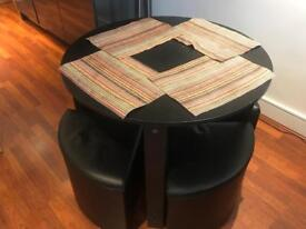 Four seater dining table with chairs