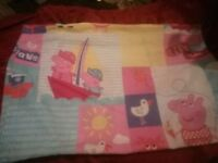 Pepper pig quilt cover and pillow cover