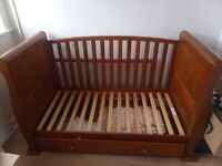 Quality child bed 140x90cm and drawer