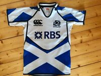 Boys Rugby Tops: Scotland, South Africa & London Wasps - size 12