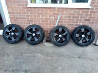 17 inch bmw e60 black rims