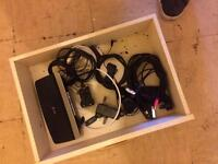 DVD player and sky box and leads