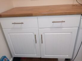 Kitchen Cabinets (used - 4 wall units & 1 base unit) + worktop