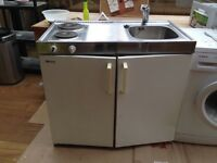 Bauknecht mini kitchen: Sink, cooking plates and fridge all in one. Fairly new tap.