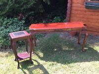 Repro mahogany tables