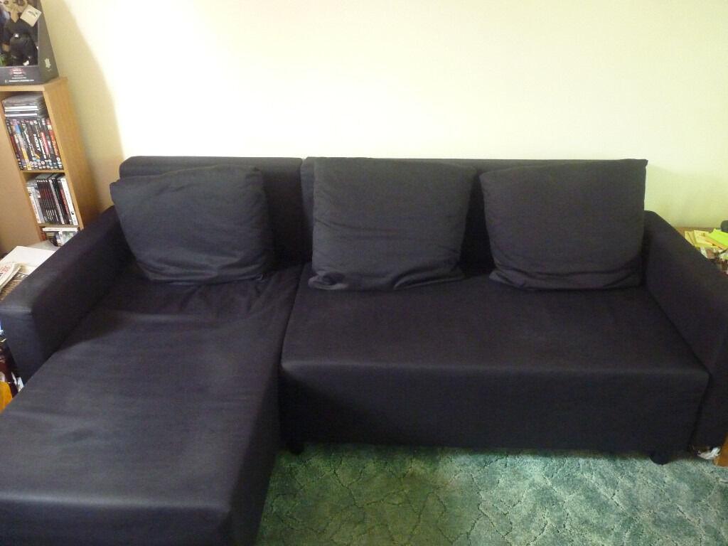 Ikea Lugnvik Sofa Bed Black In Hatfield Hertfordshire