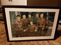 Star trek framed Original series crew photo Kirk Spock William Shatner