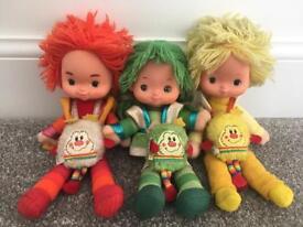 1980s retro Rainbow Brite Friends dolls