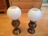 Pair of oil lamps