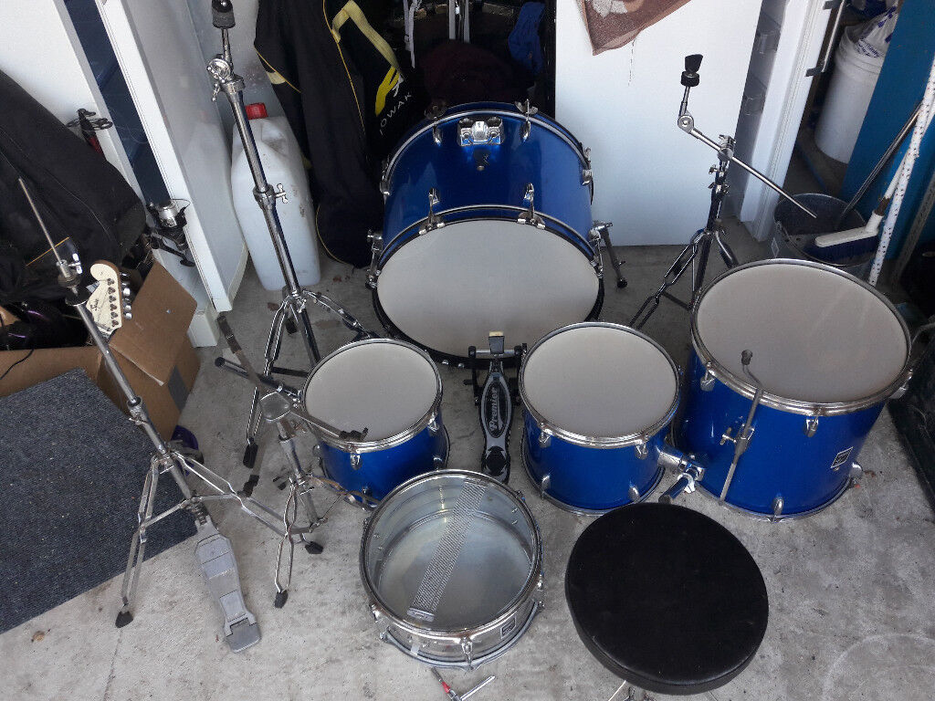 Drum Kit Full 5 Piece Kit Cymbals And Stands In East Calder