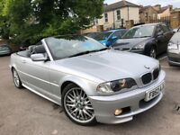 BMW 330 CI SPORT CONVERTIBLE AUTOMATIC HEATED LEATHERS 2002 (52) SAT NAV XENON NEW MOT