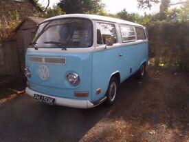 VW Bus, camper van T2 Baywindow, 1972, classic, vintage, restored conversion, perfect condition,