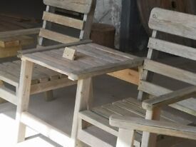 A pair of love seats, can be finished to your taste, solid wood.