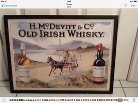 Collectors old Irish whiskey print