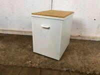 Vintage White Laundry Storage Box Stool with Cork Top