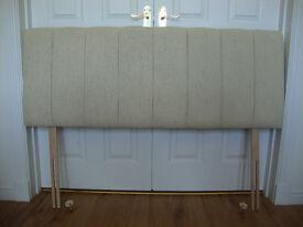 Single / kingsize headboards (beige fabric)