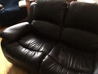 2 seater leather recliner