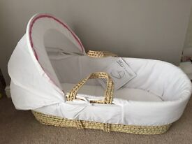 Brand new Moses basket with mattress and cover