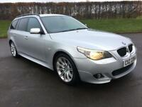 BMW 5 SERIES 3.0 530D SPORT TOURING 5d 215 BHP HEATED LEATHER, SOFT CLOSE BOOT (silver) 2005