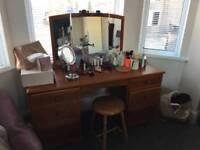Dressing Table, Drawers, Side tables X 2