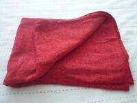 Asda red blanket throw 120x160cm