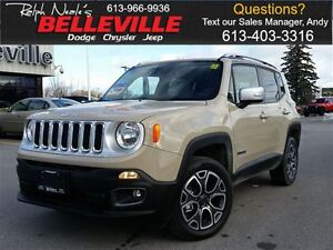 2015 Jeep Renegade Limited-4x4-Sunroof
