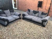 Black and grey 3+2 sofa