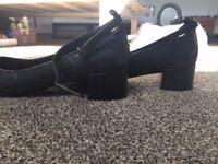 NEW M&S Black Mid- Heels
