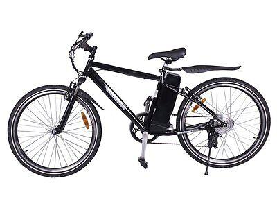 Black Electric Mountain Bike Off-Road Bicycle Ebike SLA 300W 24V 20MPH