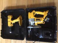 Dewalt jigsaw 18v & dewalt hammer drill 18v