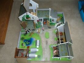 Wooden farm set. Build your own farm set, includes barn and outbuilding, animals and farmers.