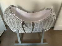 Moses basket for baby and other assorted bits