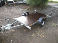 NEW / UNUSED ERDE (600KG) 6-8 X 4-0 FLATBED TRAILER WITH RAMPS...