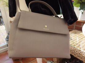 Ladies Light Grey Leather Modalu Handbag (BNWT)