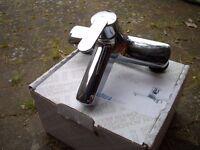 Bath mixer tap in chrome