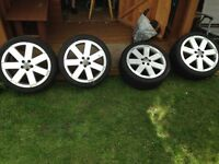 4 18'' Audi alloy wheels