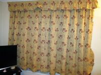 "Quality curtains by 'Dunelm' size 66""wide x 72""length"