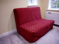 Dark Red Sofa Bed 4' x 6' in excellent condition