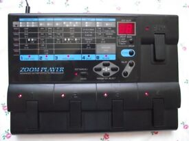 Zoom 2020 Electric Guitar Effects Pedal & mains adaptor :- Distortion Chorus Delay Reverb etc