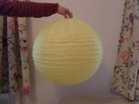 Yellow Paper Lanterns x 10 - Great for Wedding or other Party