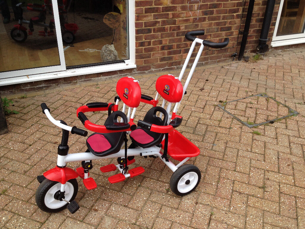Amie And Gracie Twin Trike Tricycle Red In